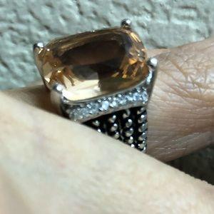 NEW Statement morganite stone ring 925 silver